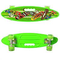 Скейт пенни MS 0461-2 (Light-Green), детский скейт,скейт,пенни борд,детский скейтборд