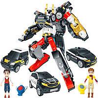 Трансформер Тобот Тритан с героями мини с ключом-токеном Tobot Tritan детская игрушка робот Q1906 3 машинки