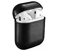Кожаный чехол для AirPods Vintage Leather Case Black