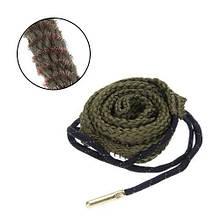 Протяжка шнур змейка для чистки ствола оружия 38, 357, 380 калибра 9 мм