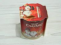 Свічка ароматична в склі З Різдвом Христовим