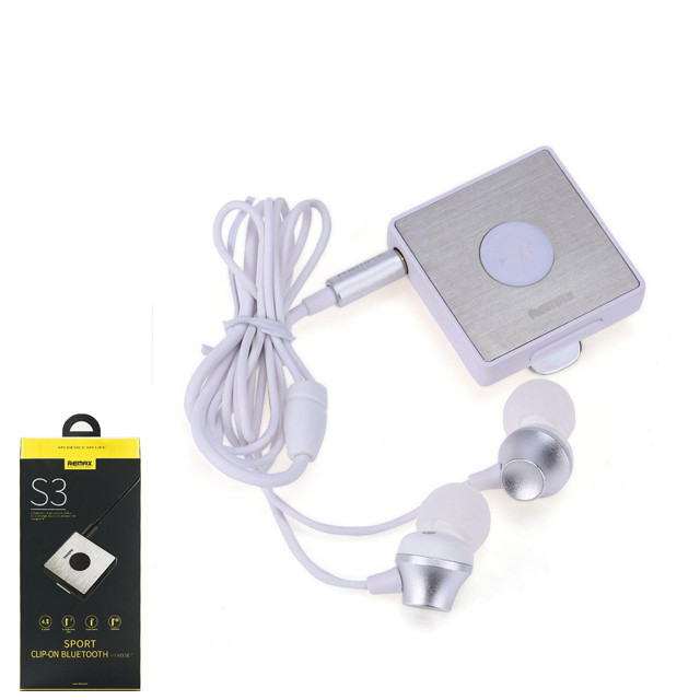 Навушники bluetooth Remax RB-S3 BT4.1 Clip-on Receiver Silver (6954851251415)