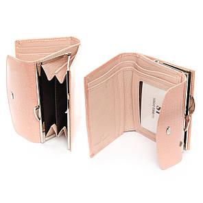 Кошелек женский кожаный лаковый маленький нежно розовый Sergio Torretti WS-11, фото 2