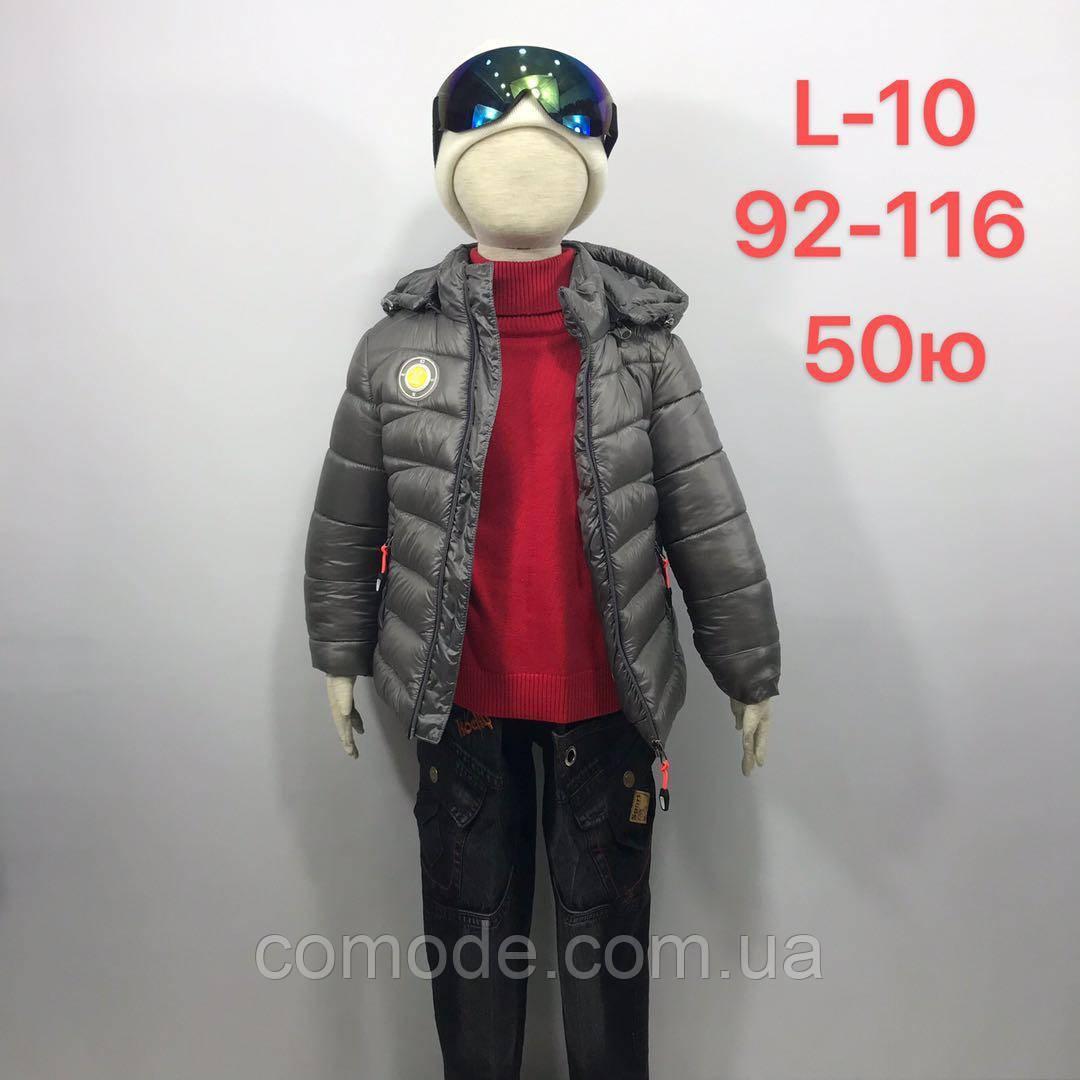 Куртка на мальчика демисезонная серая