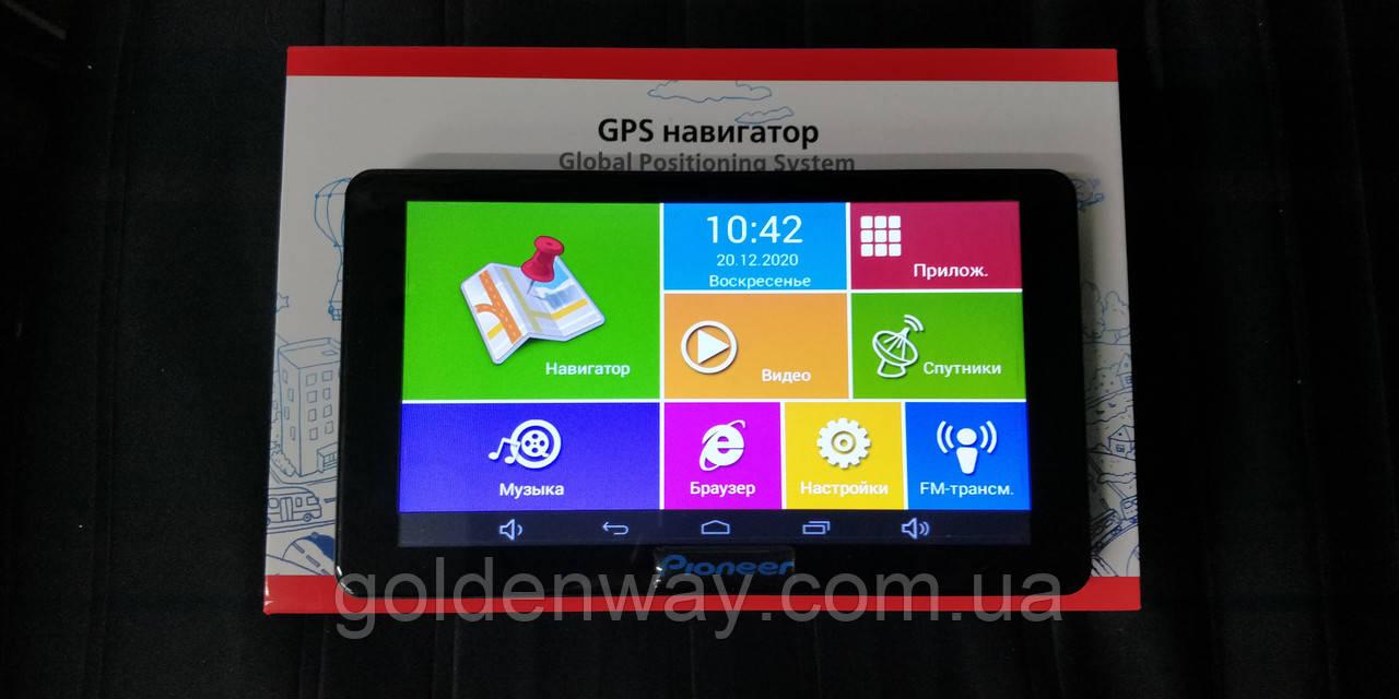 Автомобильный GPS навигатор Pioneer X7 Android Экран 7 дюймов 2.5D Igo Primo ЕВРОПА (TIR)