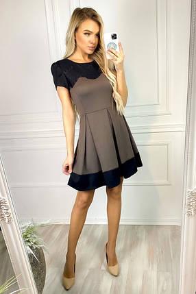 """Приталенное трикотажное мини-платье """"TINA"""" с коротким рукавом, фото 2"""