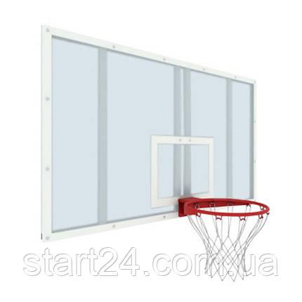 Щит баскетбольний професійний з оргскла товщ. 10 мм (для ферм і стійок), фото 2