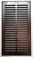 Вентиляционная решетка деревянная 290х160, дерево ВЕНГЕ