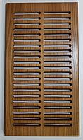 Вентиляционная решетка деревянная 290х160, дерево ОРЕХ