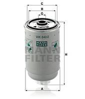 Фильтр топливный IVECO, MAN, SCANIA (слив болт) ( MANN ) WK 842/2