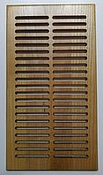 Вентиляционная решетка деревянная 290х160, дерево ДУБ