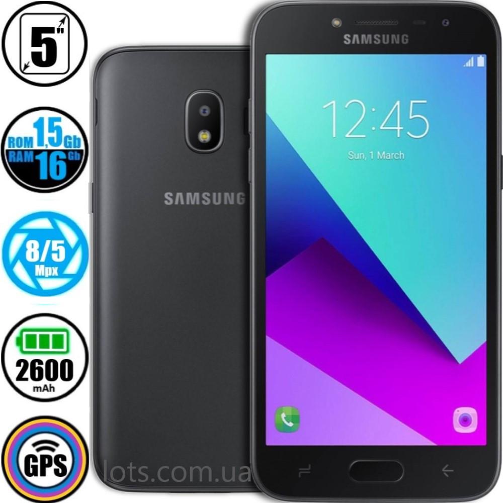 Смартфон Samsung Galaxy J2 J250F 1,5/16GB Black + Подарок Стекло