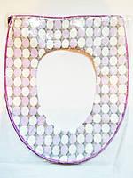 Чехол - накладка, утеплитель на сиденье унитаза на змейке, фото 1