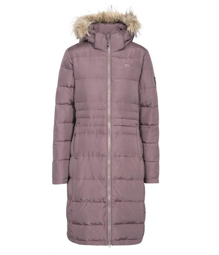 Зимняя длинная женская куртка Trespass FAJKDOM20006 Dusty Heahter