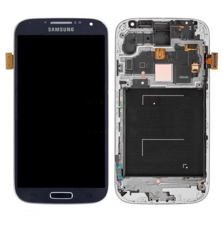 Дисплей для Samsung i9500 Galaxy S4 з сенсорним склом в рамці Яскравість не регулюється (Синій) TFT