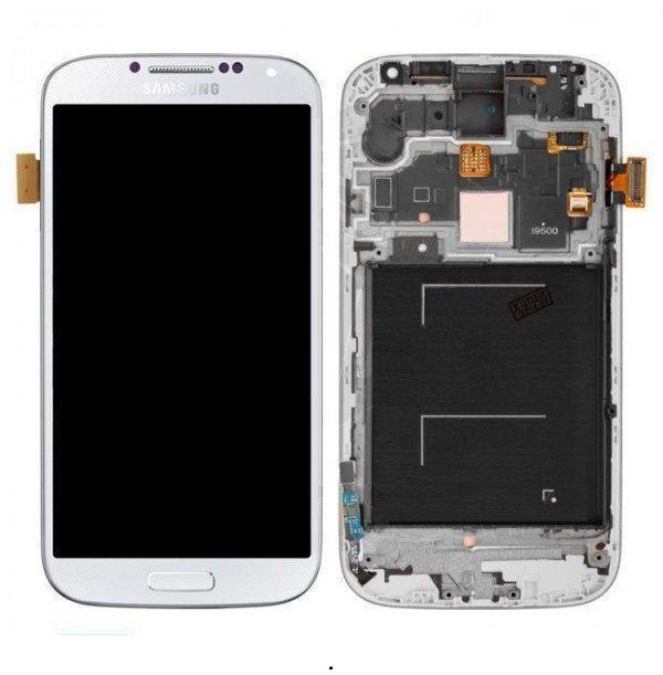 Дисплей для Samsung i9500 Galaxy S4 з сенсорним склом в рамці Яскравість не регулюється (Білий) TFT