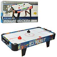 Хоккей воздушный деревянный 85-42,5-21,5 см Power Hockey 3005B работает от батареек