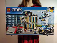 Конструктор Лего Сити Полиция Ограбление на бульдозере, 591 деталь Bela 10659 - Аналог City (Сити) 60140