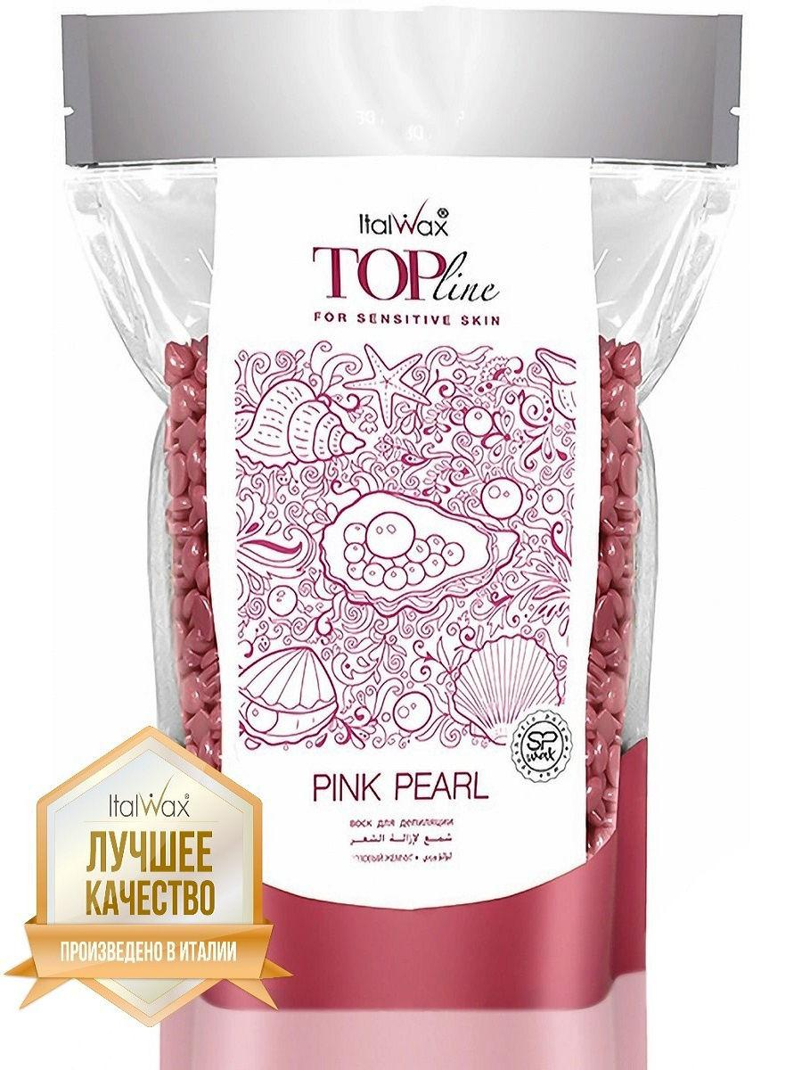 Плівковий віск для депіляції ItalWax Top Formula «Рожевий перли» + шпателі