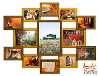 Настенная фоторамка на 13 фотографий