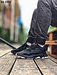 Мужские кроссовки Adidas Ozweego TR (черно/белые) KS 1592, фото 3