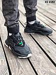 Мужские кроссовки Adidas Ozweego TR (черно/белые) KS 1592, фото 7