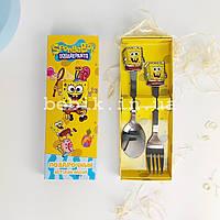 Подарочный детский набор столовых приборов Sponge Bob