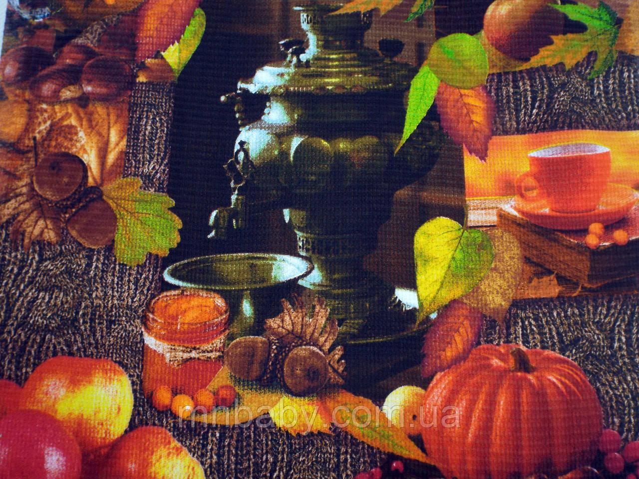 Ткань вафельная ширина 50 см Осень
