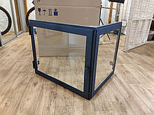 Угловая дверца для камина с жаропрочным стеклом Hetta Mia 600*635*h515мм