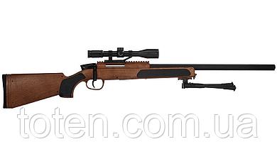 Снайперська дитяча гвинтівка 110 см «Airsoft Gun» CYMA ZM51W, приціл, дальність стрілянини - 50 м