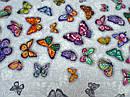 Ткань вафельная ширина 50 см Бабочки, фото 4