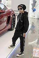 Велюровый спортивный костюм для мальчика-подростка черный