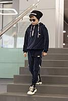 Велюровый спортивный костюм для мальчика-подростка синий