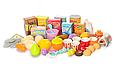 Детский супермаркет магазин 99 см прилавок продукты, сладости, компьютер касса, купюры, 60 предметов  668-65, фото 4
