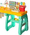 Детский супермаркет магазин 99 см прилавок продукты, сладости, компьютер касса, купюры, 60 предметов  668-65, фото 3
