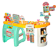 Детский супермаркет магазин 99 см прилавок продукты, сладости, компьютер касса, купюры, 60 предметов  668-65, фото 2