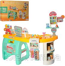 Дитячий супермаркет магазин 99 см прилавок продукти, солодощі, комп'ютер каса, купюри, 60 предметів 668-65