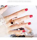 Кольцо Женские City-A Цвет Золотое с Циферблатом Регулируемое Без Размера Титановое Модное №2999, фото 4