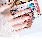 Кольцо Женские City-A Цвет Золотое с Циферблатом Регулируемое Без Размера Титановое Модное №2999, фото 5