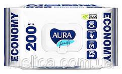 Влажные салфетки Aura Family Для всей семьи - 200 шт.