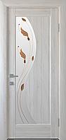 """Міжкімнатні двері """"Ескада"""" G 900, колір ясен new з малюнком Р1 , ліві"""