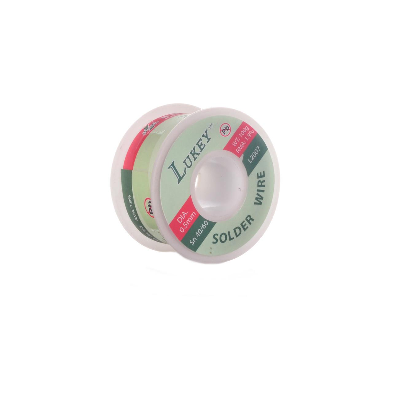 Припій для пайки олов'яно-свинцевий Lukey Sn.40/60 100гр (0.5 мм)