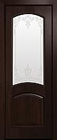 """Міжкімнатні двері """"Антре"""" G 700, колір каштан з малюнком Р3 , ліві"""
