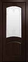 """Міжкімнатні двері """"Антре"""" G 800, колір каштан з малюнком Р3 , ліві"""