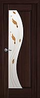 """Міжкімнатні двері """"Ескада"""" G 600, колір каштан з малюнком Р1 , ліві"""