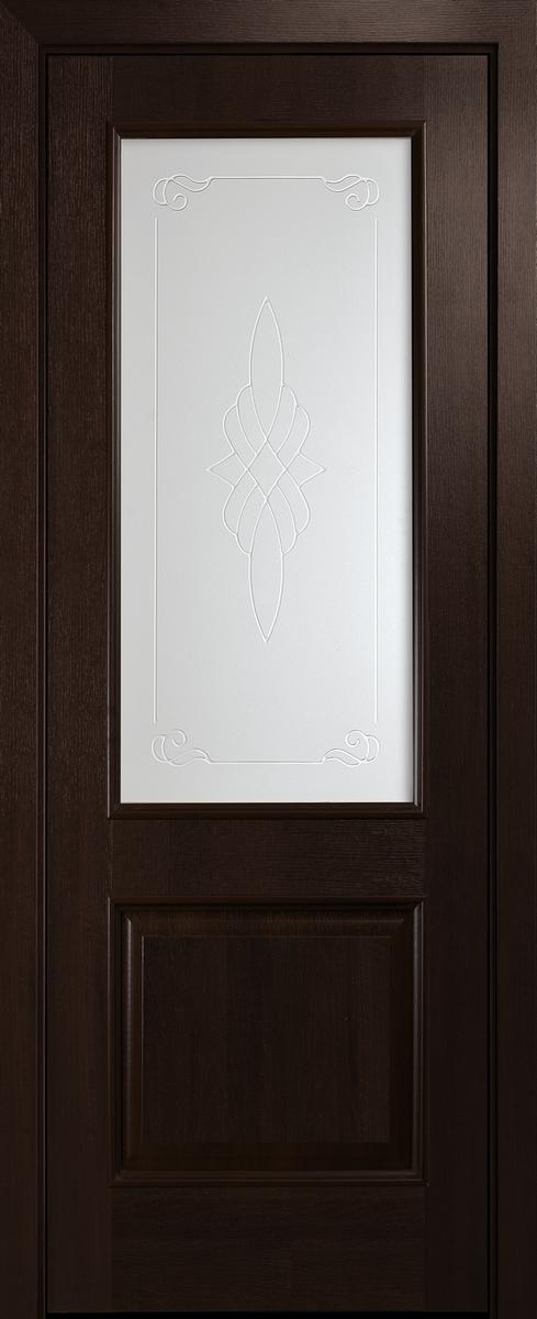 "Міжкімнатні двері ""Вілла"" G 600, колір каштан з малюнком Р1"