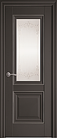 "Міжкімнатні двері ""Імідж"" G + ML2 600, колір антрацит з малюнком Р2"