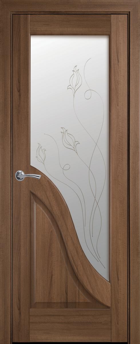 "Міжкімнатні двері ""Амата"" G 700, колір золота вільха з малюнком Р2 , ліві"