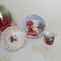 Набор керамической посуды для детей Человек Паук