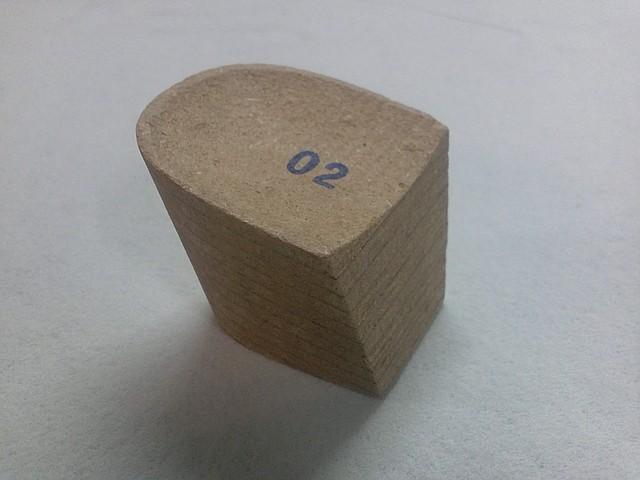 Каблук деревянный (мазанит) женский №02 (высота-5 мм)